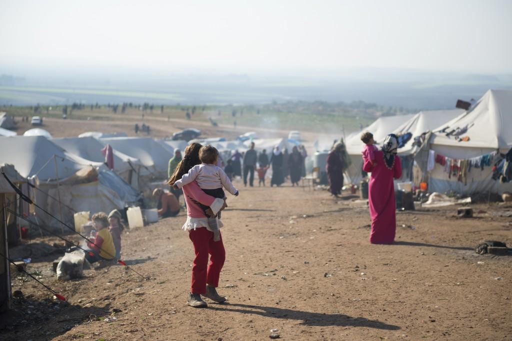 Syrian refugees near Turkey.