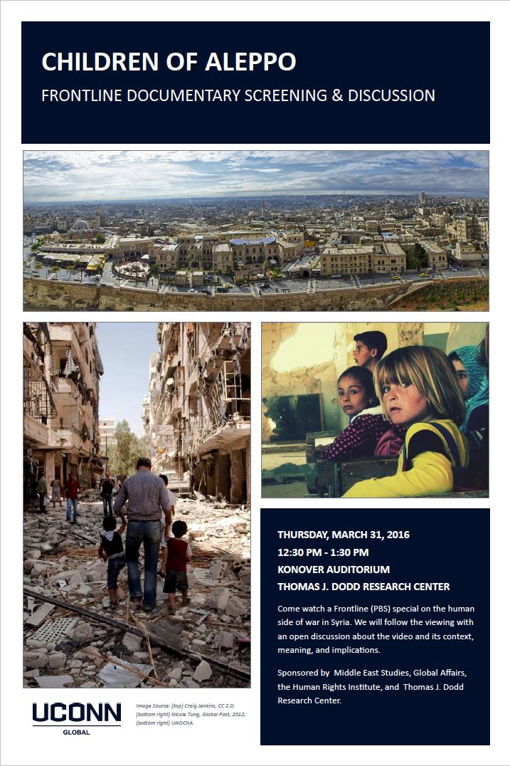 Children of Aleppo Frontline at UConn
