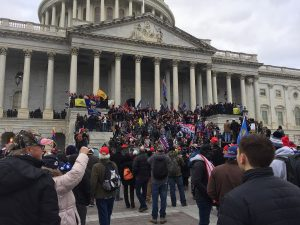 protesters gathering outside the Capitol