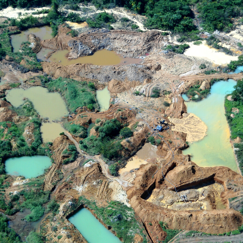Gold mine in the Amazon